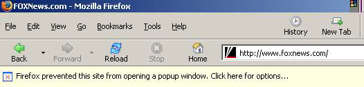 The Firefox popup blocker