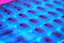 glowing keys