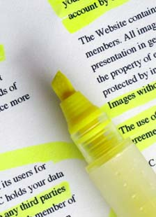 Highlighting text, literally