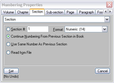 Numbering properties